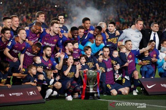 Hasil dan klasemen Liga Spanyol, Barcelona pastikan gelar juara