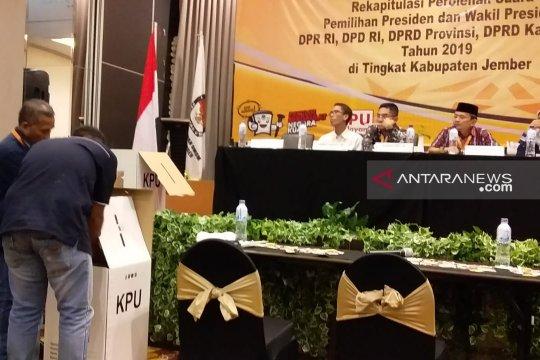 KPU Jember tuntaskan rekapitulasi penghitungan pilpres