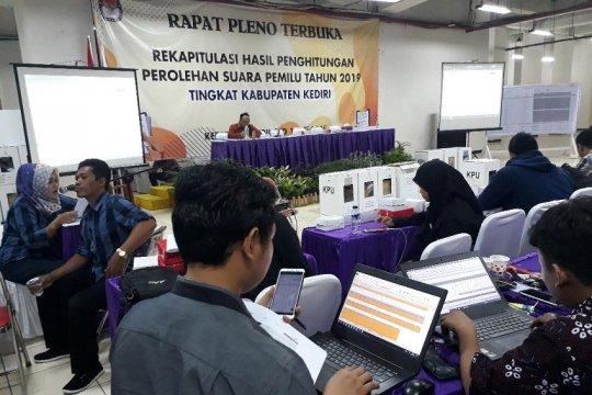 KPU Kabupaten Kediri jadwalkan rekapitulasi delapan kecamatan
