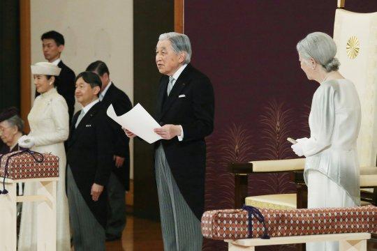 Kaisar Akihito sampaikan terima kasih kepada masyarakat Jepang