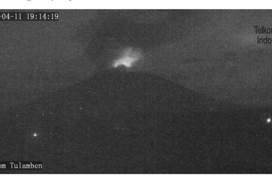 Gunung Agung meletus lagi, kolom abu 2.000 meter