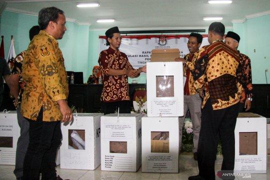 Rapat pleno terbuka rekapitulasi suara tingkat kabupaten di Sidoarjo