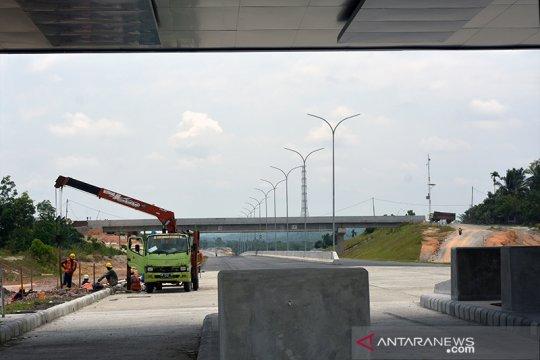 Jalan tol Pekanbaru-Dumai belum bisa digunakan untuk mudik Lebaran
