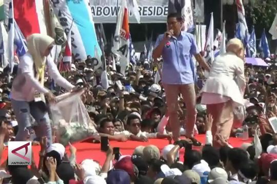 Kampanye di Tangerang, Sandi Uno disawer