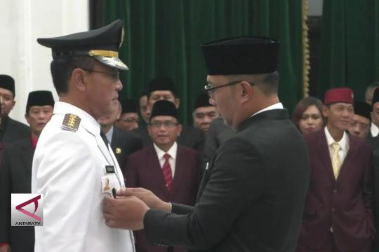 Gubernur Jabar lantik Walikota Bogor dan Bupati Ciamis