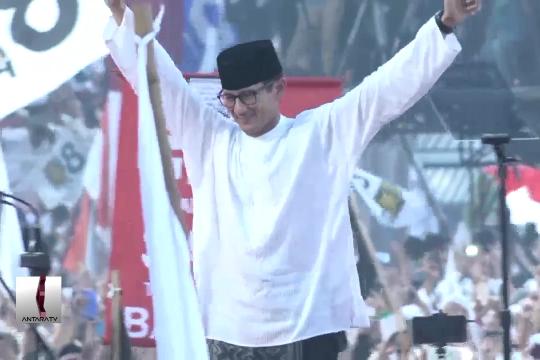 Prabowo-Sandi sapa pendukungnya