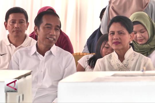 Usai mencoblos, Jokowi lega