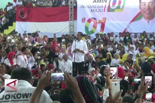 Joko Widodo optimistis raih suara terbanyak di Sukabumi
