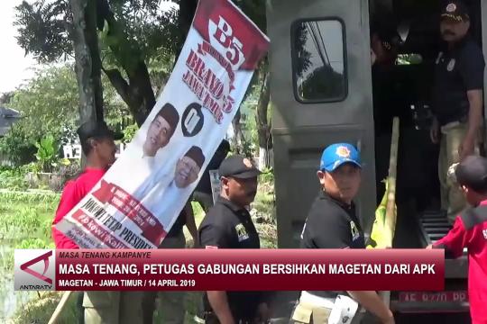 Masa tenang, petugas gabungan bersihkan Magetan dari APK