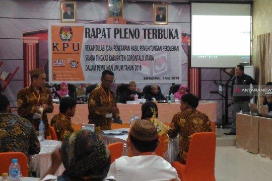 Rekapitulasi hasil penghitungan suara 3 hari di Gorontalo Utara