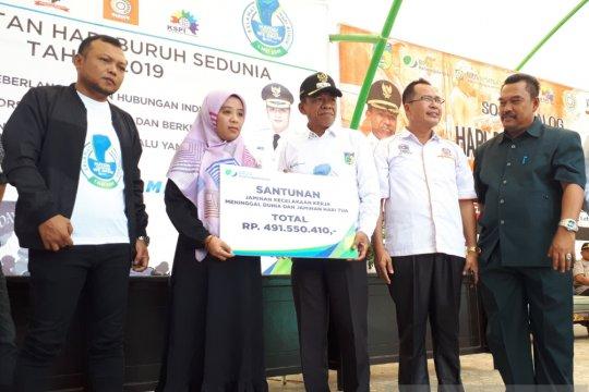 BPJSTK: buruh berperan penting dalam menumbuhkan perekonomian di Palu
