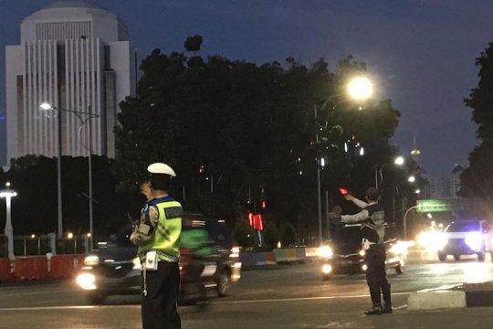 Blokade jalan seputar Istana Merdeka dibuka