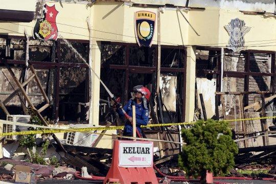 Kebakaran Polres Lampung Selatan