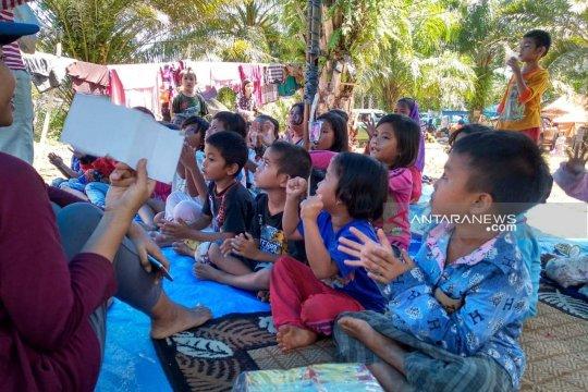 GMKI buka kelas belajar bagi pengungsi banjir Bengkulu