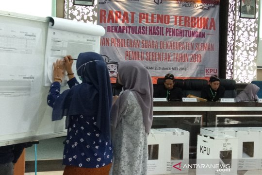 Bawaslu Sleman harapkan rekapitulasi dua kecamatan segera selesai