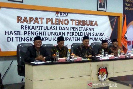 KPU: Jokowi-Ma'ruf raih 74,26 persen di Banyumas
