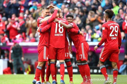 Hasil dan klasemen Liga Jerman, Muenchen unggul empat poin di puncak