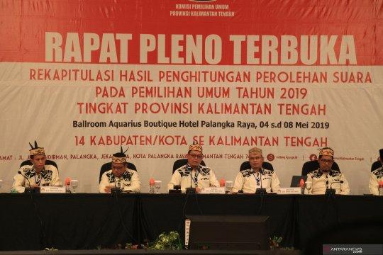 KPU Kalteng mulai pleno rekapitulasi suara pemilu 2019
