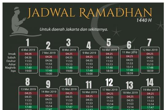 Jadwal Ramadhan 1440 H
