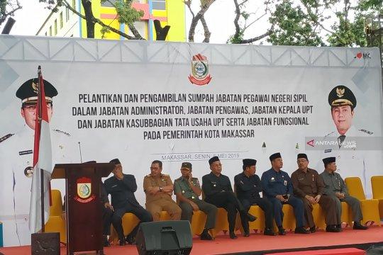Sebelum jabatan berakhir, Wali Kota Makassar lantik 400 pejabat baru