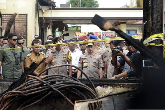 Barang bukti narkoba ikut terbakar di Polres Lampung Selatan