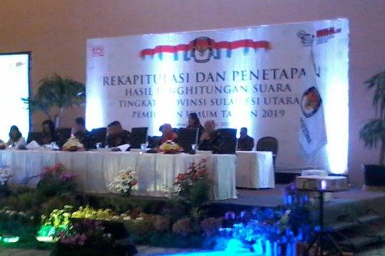 Pleno rekapitulasi KPU Sulut diawali doa untuk KPPS meninggal