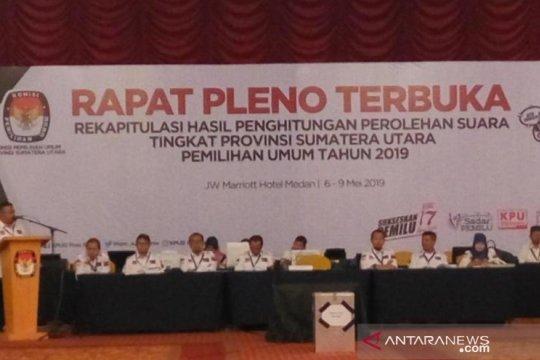 KPU Sumut rekapitulasi perolehan suara Pemilu 2019