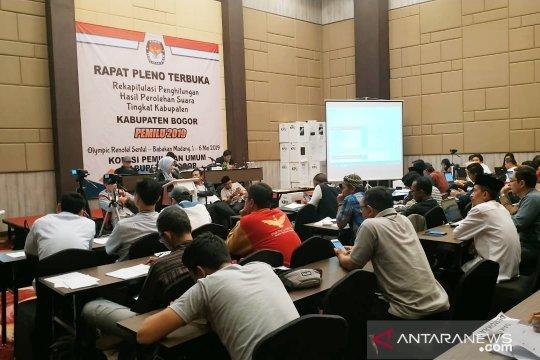 Butuh 19 hari hitung suara TPS terbanyak di Bogor