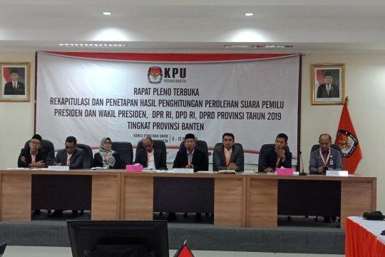 KPU Banten lakukan rapat pleno rekapitulasi hasil Pemilu 2019