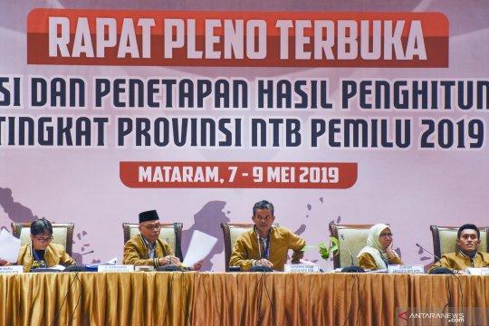 Rekapitulasi suara tingkat Provinsi NTB