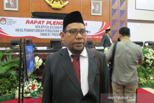 KIP Aceh rekapitulasi hasil penghitungan perolehan suara Pemilu 2019