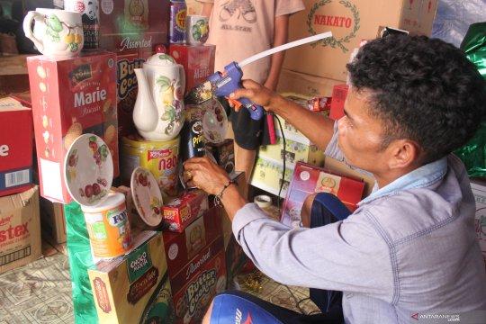 Pedagang di Cikini mulai siapkan bingkisan lebaran