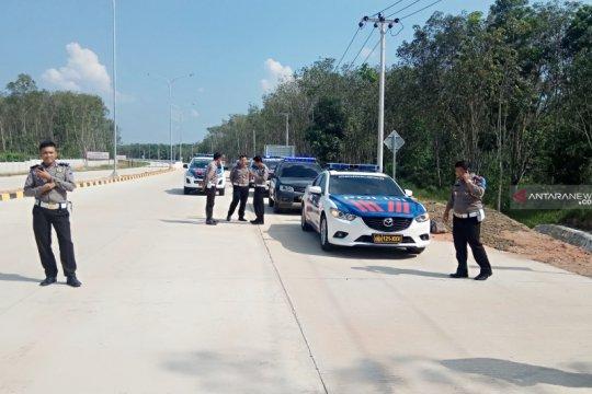 Ditlantas Polda Lampung gelar patroli di Jalan Tol Trans Sumatera