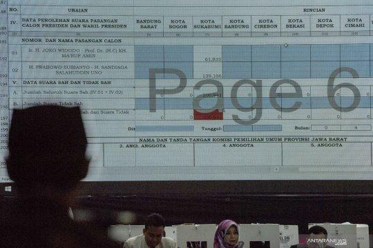 Rekapitulasi penghitungan suara Provinsi Jabar