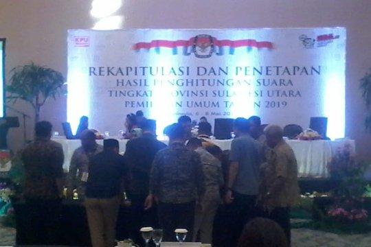 Dua KPU kota belum sampaikan hasil rekapitulasi ke KPU Sulut