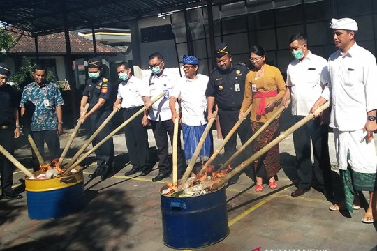 BBPOM Denpasar musnahkan obat-kosmetik ilegal