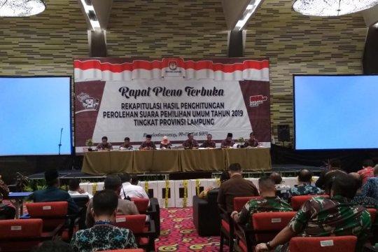 KPU Provinsi Lampung rapat pleno penghitungan suara