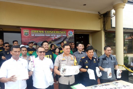 Polres Jakbar-DEA-Bea Cukai gagalkan penyelundupan 28 kilogram sabu