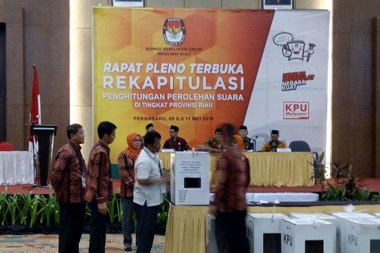 Dua daerah tidak ikuti pleno penghitungan suara tingkat Provinsi Riau