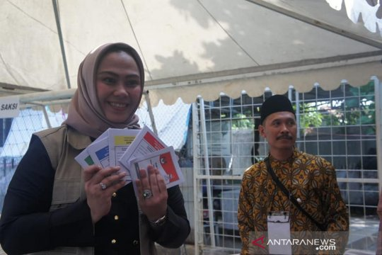 Partisipasi pemilih Pemilu 2019 di Karawang 79,23 Persen