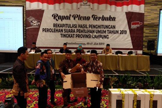 KPU Lampung rampungkan rekapitulasi empat kabupaten/kota