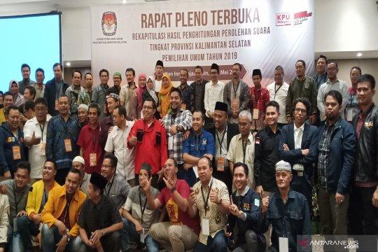 Hasil rekapitulasi KPU Kalsel dibawa ke Jakarta hari ini