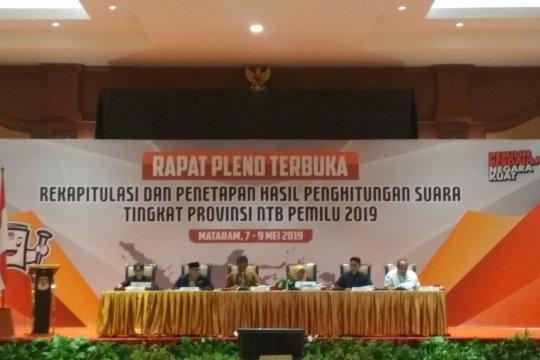 Pleno rekapitulasi penghitungan suara dilanjutkan di NTB