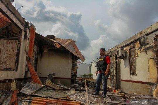 Polisi perketat pengamanan perbatasan Pekanbaru-Siak pascarusuh Rutan