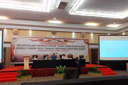 KPU Sumatera Barat rampungkan rekapitulasi suara Pemilu 2019