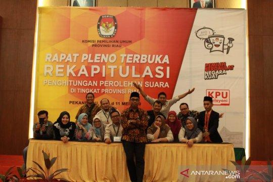 Prabowo menang di Riau raih suara 61,26 persen, Jokowi 38,49 persen