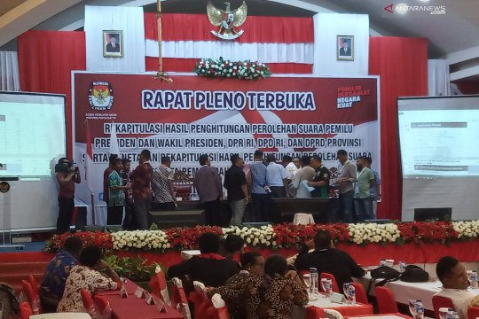 Hasil sementara Jokowi-Ma'ruf Amin unggul di Papua Barat