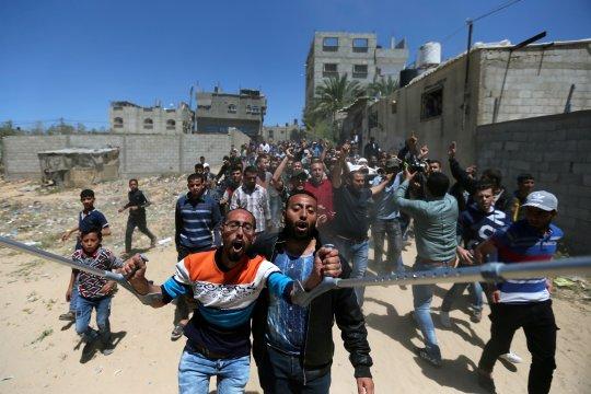 Pasukan Israel lukai 67 orang Palestina di perbatasan Jalur Gaza