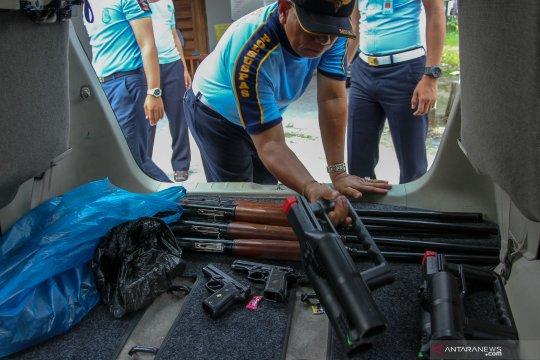 Inventaris senjata Rutan Siak dititipkan
