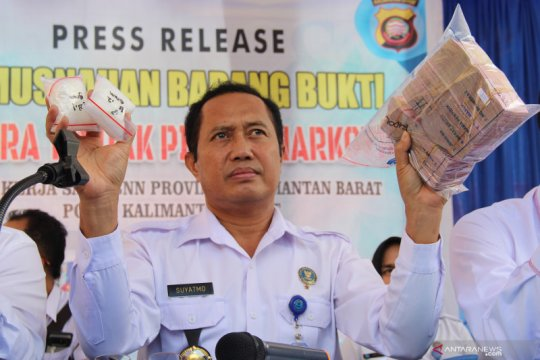 BNNP Kalbar ungkap 21 kasus tindak pidana narkotika